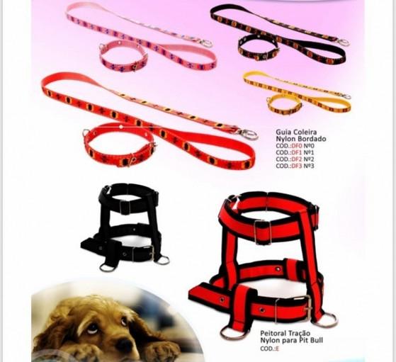 Peitoral e Guias para Cachorro ABCD - Peitoral com Guia para Cachorro